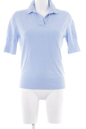 COS Polo bleu azur style décontracté