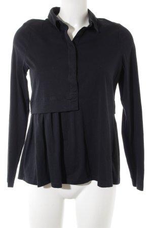COS Blusa tipo Polo negro estilo deportivo