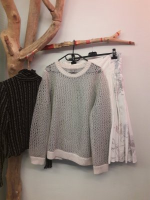 COS Oversized Sweater light grey-silver-colored