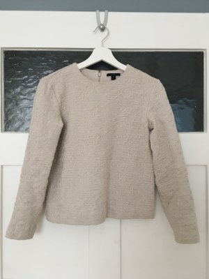 COS Pulli Pullover Shirt Sweatshirt Bluse Hemd Top Creme Nude Beige Baumwolle XS 34