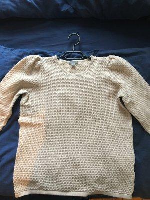COS Pullover 3/4 Ärmel Rüschen Creme S