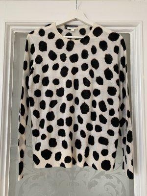 COS Pullover aus Wolle Dalmatiner Animal Look Größe M wie NEU