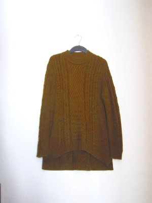 COS Pullover Cable Knit Khaki Oliv Strick Oversize