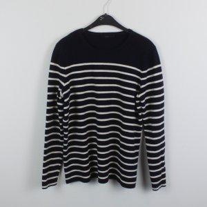 COS Pullover Gr. L dunkelblau weiß Streifen (18/10/234)