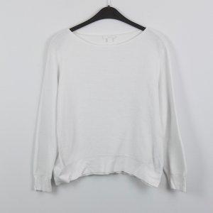 COS Pullover Gr. L weiß gerippt (18/10/181)
