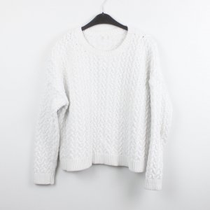 COS Pullover Gr. L weiß Zopfmuster oversized (18/11/251)