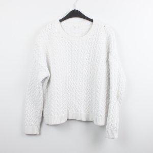 COS Pull torsadé blanc coton