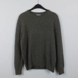 COS Sweater dark green-green grey alpaca wool