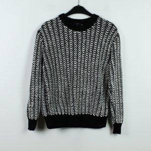 COS Maglione lavorato a maglia bianco-nero Cotone