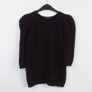 COS Short Sleeve Sweater blackberry-red-black cotton