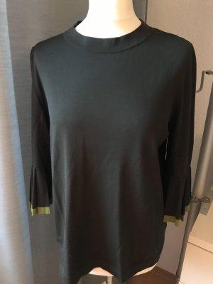 COS Pullover grün Plissee Ärmel 3/4 Arm Gr M
