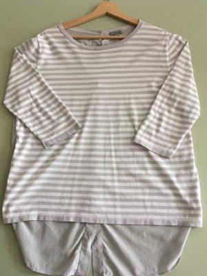 COS Kraagloze sweater zilver-wit Katoen