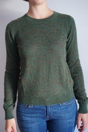 COS Pullover Rundhals Alpaka & Wolle grün/braun meliert S