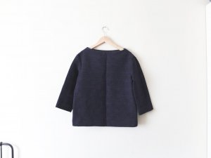 COS Pullover Shirt Gr. 40 blau melange navy boucle