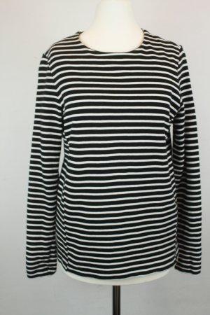 COS Pullover Strickpullover Gr. XS schwarz weiß gestreift