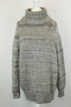 COS Pullover Strickpullover Rollkragenpullover Gr. XS grau oversized