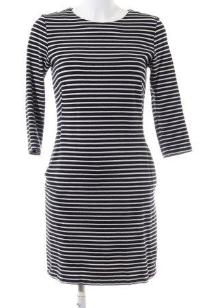 COS Abito maglione nero-bianco motivo a righe stile casual