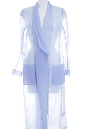 COS Manteau de pluie bleu azur style décontracté
