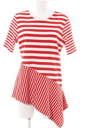COS Gestreept shirt rood-wit gestreept patroon casual uitstraling