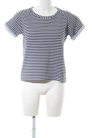 COS Maglietta a righe bianco-nero motivo a righe stile casual