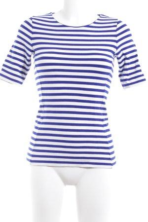 COS Gestreept shirt wit-blauw gestreept patroon casual uitstraling