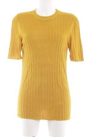 COS Camisa acanalada amarillo pálido look casual