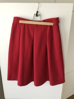 COS Jupe tulipe rouge-rouge foncé coton