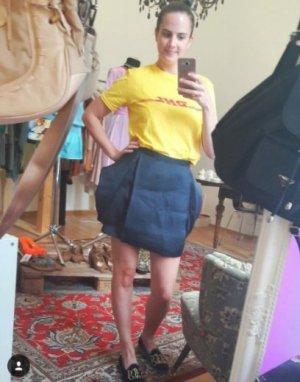 COS Skirt dark blue
