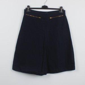 COS Flared Skirt dark blue cotton