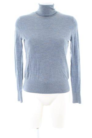 COS Rollkragenpullover blau meliert Casual-Look