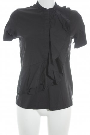 COS Ruche blouse donkerblauw casual uitstraling