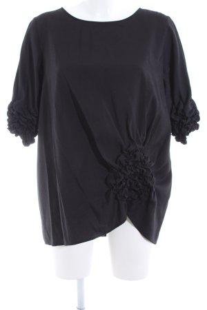 COS Camicetta con arricciature nero elegante