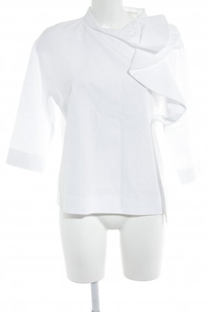 COS Blusa con volantes blanco estilo «business»