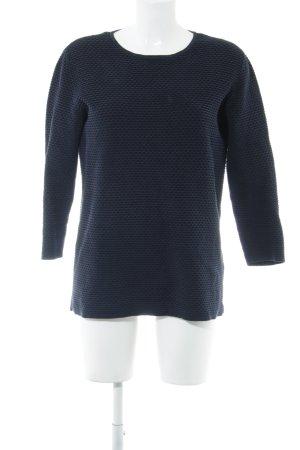 COS Pull ras du cou bleu Motif de tissage style simple