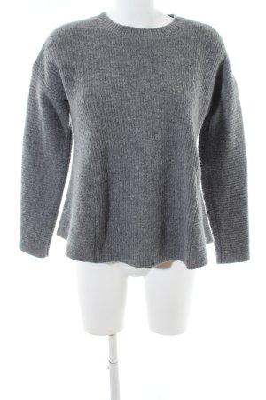 COS Maglione girocollo grigio chiaro puntinato stile casual
