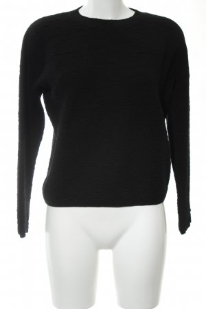 COS Crewneck Sweater black business style
