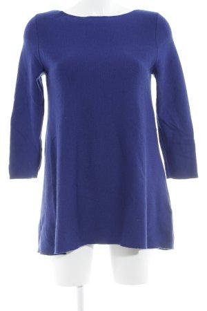 COS Jersey de cuello redondo azul look casual