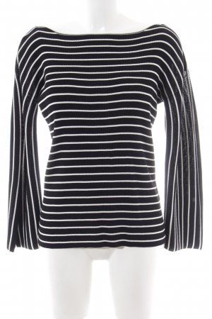 COS Crewneck Sweater black-white striped pattern simple style