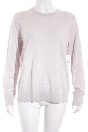 COS Kraagloze sweater licht beige straat-mode uitstraling