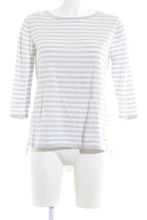 COS Crewneck Sweater light grey-white horizontal stripes casual look
