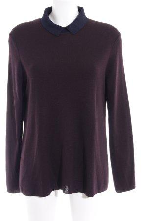 COS Rundhalspullover purpur-dunkelblau Casual-Look
