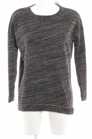 COS Crewneck Sweater black-white flecked casual look