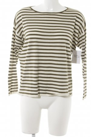 COS Crewneck Sweater natural white-khaki striped pattern casual look