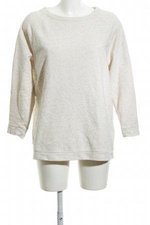 COS Crewneck Sweater natural white flecked casual look