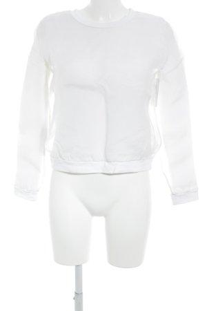 COS Rundhalspullover wollweiß-weiß Casual-Look