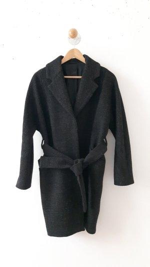 COS Manteau en laine brun noir
