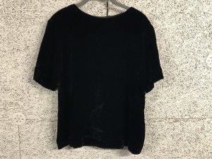 COS Samt Shirt in L schwarz