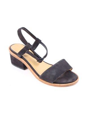 COS Sandaletten schwarz-braun schlichter Stil