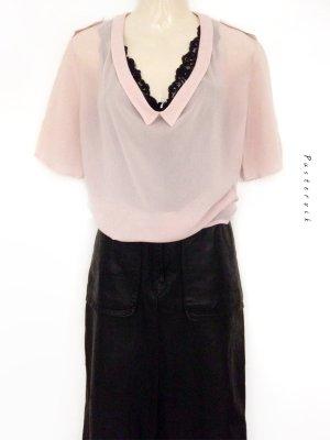 COS Scandinavian Minimal Chic Blogger Style Bluse Shirt Rosa Kragen