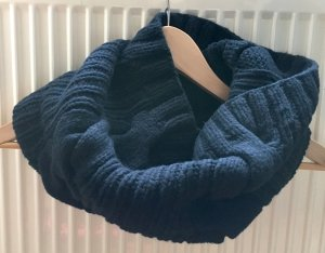 COS Tube Scarf dark blue-blue wool